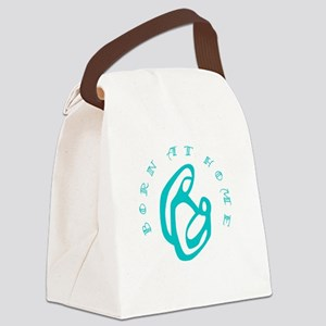 BornatHome_teal Canvas Lunch Bag